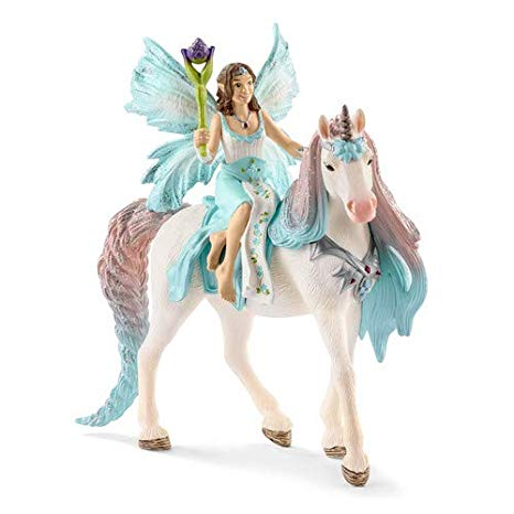 Amazon Com  Schleich Fairy Eyela With Princess Unicorn Toy