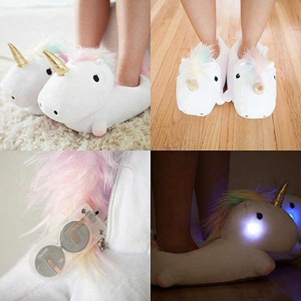 Amazon Com  Smoko Light Up Unicorn Slippers, Kawaii Kid's