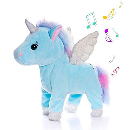 Amazon Com  Tacy Singing And Walking Electronic Pet Unicorn 25cm