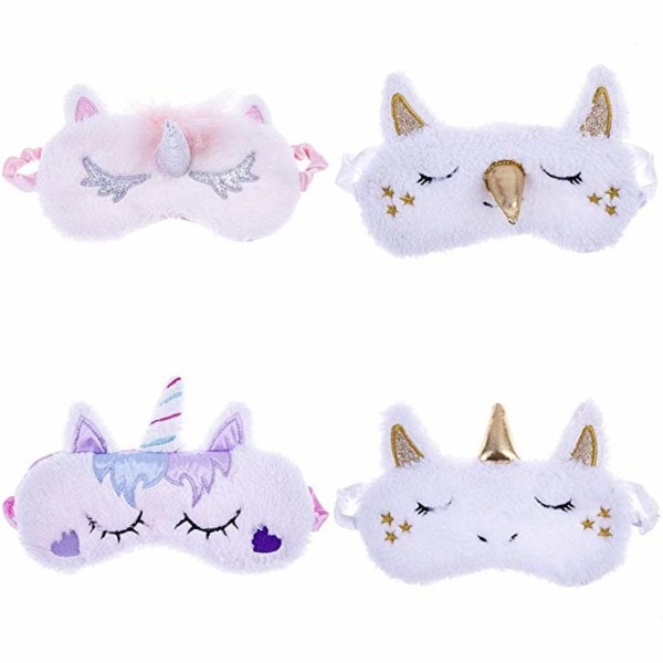 Amazon Com  Tretree 4 Pack Unicorn Sleep Mask Cute Unicorn Horn