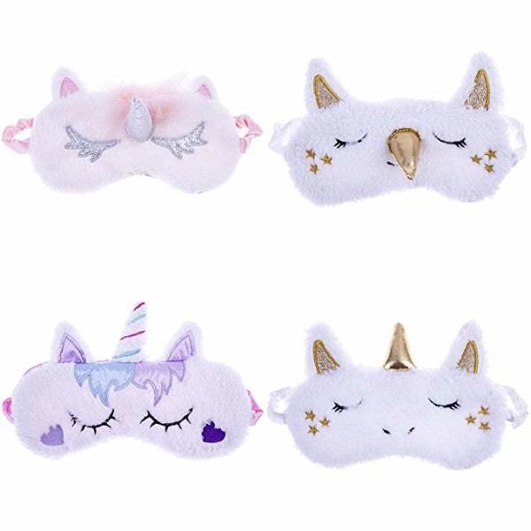 Amazon Com  Tretree 4 Pack Unicorn Sleep Mask Cute Unicorn Horn