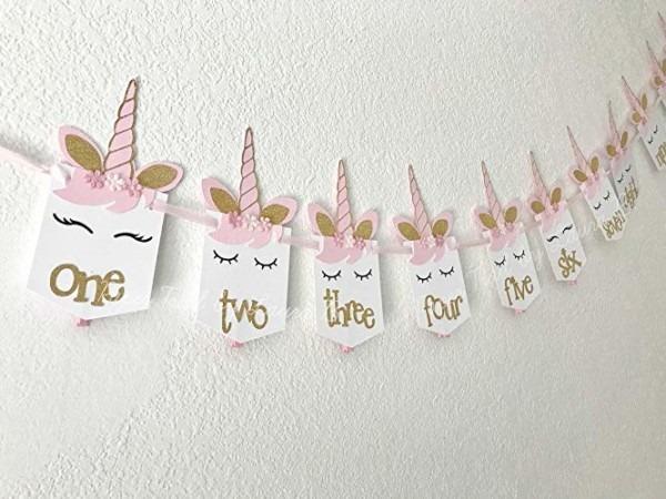 Amazon Com  Unicorn 1st Birthday Photo Banner Shabby Chic  First