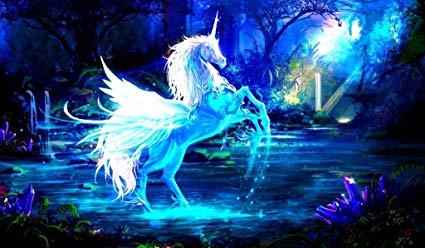 Amazon Com  Unicorn Pegasus Tcg Playmat, Gamemat 24  Wide 14  Tall