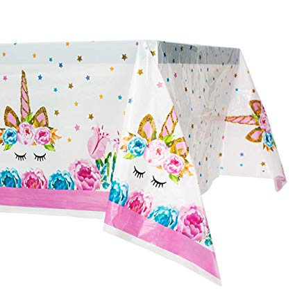 Amazon Com  Unicorn Plastic Tablecloth,unicorn Disposable Table