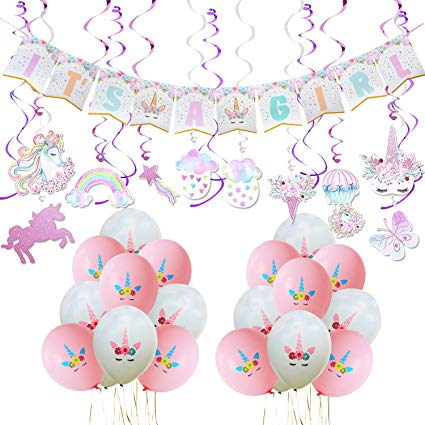 Amazon Com  Wernnsai Unicorn Baby Shower Decorations