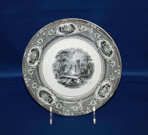 Antique Wedgwood & Co Plate Corinthia Pattern Earthenware