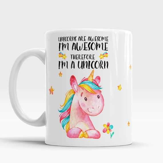 Awesome Mug, Unicorns Are Awesome, Unique Unicorn Mug, Cute