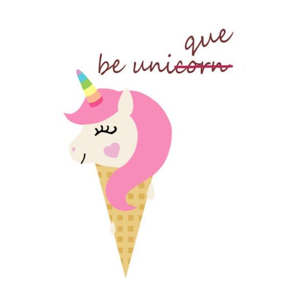 Be Unique Unicorn Ice Cream Cone