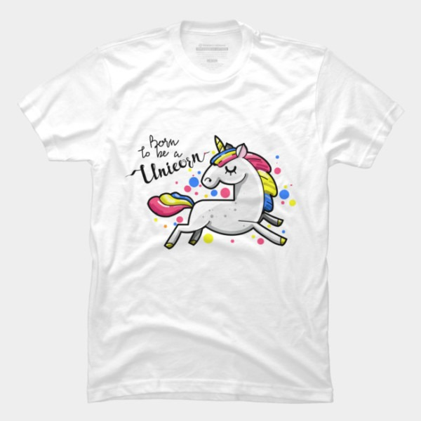 Born To Be A Unicorn T Shirt By 8soon Design By Humans