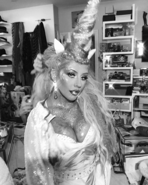 Christina Aguilera's Rainbow Unicorn Halloween Costume Is Epic