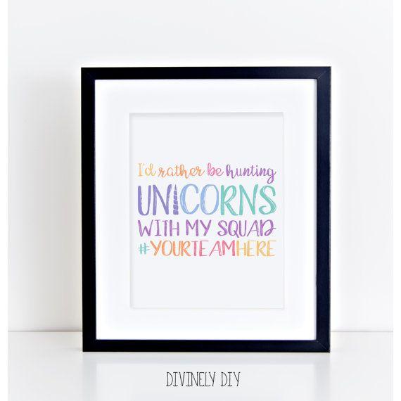 Custom Printable  Business Tool  I'd Rather Be Hunting Unicorns