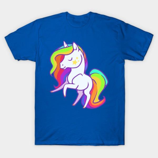 Cute Chibi Rainbow Mane Unicorn