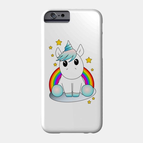 Cute Unicorn In Cloud