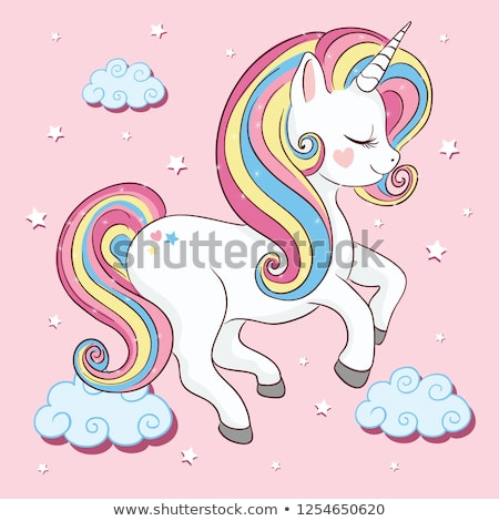 Cute Unicorn Vector Illustration Kids Fashion Stock Vector