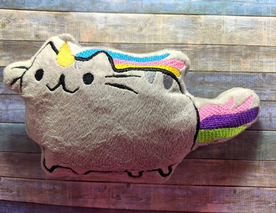 Digital Download Unicorn Kitty Plush Ith 5x7 Embroidery Design
