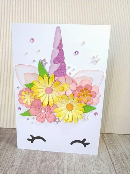 Diy Birthday Cards 3d Unicorn Card A5 Floral Unicorn Card 3d