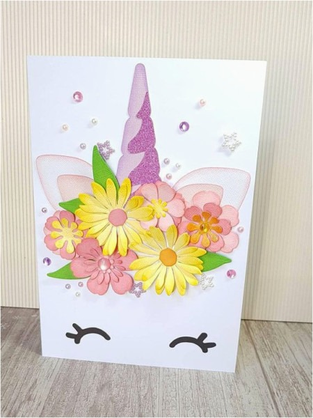 Diy Birthday Cards With Flowers Unicorn Card A5 Floral Unicorn