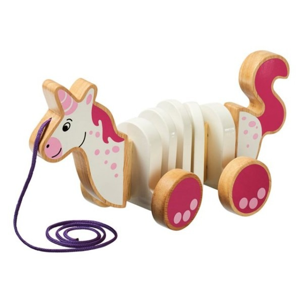 Fair Trade Wooden Unicorn Pull Along Toy