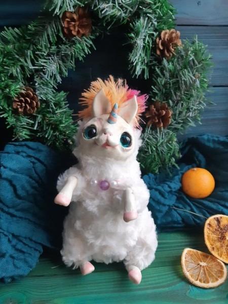 Fantasy Plush Creature Baby Unicorn Ooak Fantasy Creature Doll