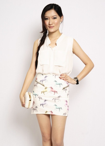Fione Unicorn Skirt (h&m Inspired)
