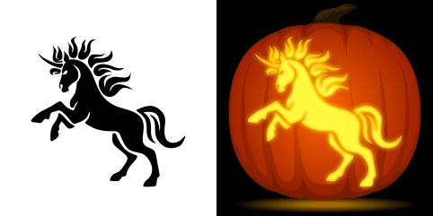 Free Unicorn Pumpkin Stencil