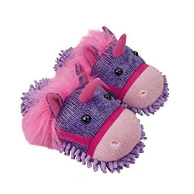 Fuzzy Friends Unicorn Slippers From Aroma Home