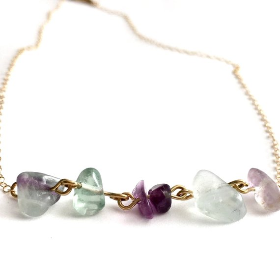 Gemstone Choker Boho Necklace Boho Chic Layering Necklace