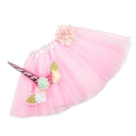 Girls Unicorn Headband Tutu Set Pink  Fashion  Clothing  Shoes