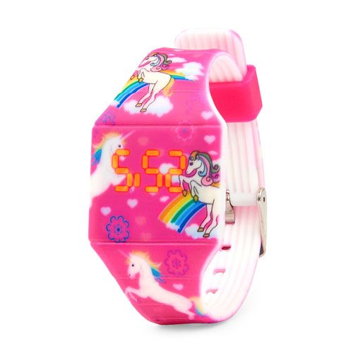 Girls Unicorn Printed Digital Watch