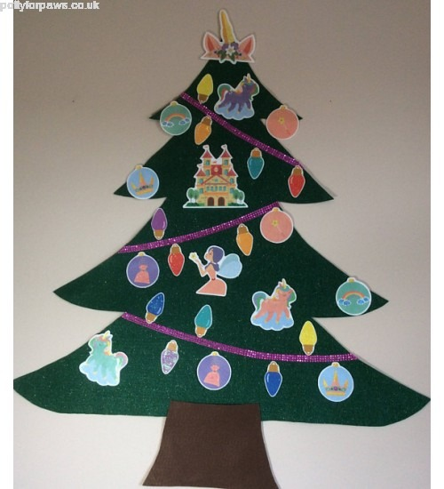 Good Sale Felt Christmas Tree Unicorn Wall Christmas Felt Tree