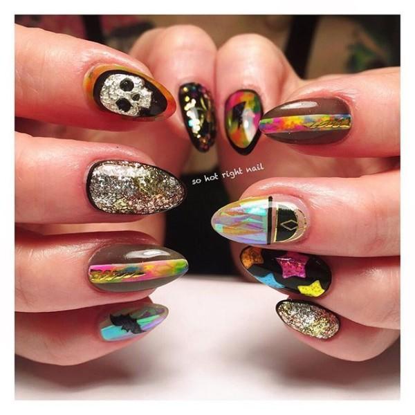 Goth Unicorn Nails For My Babe @kiravonsutra ✨