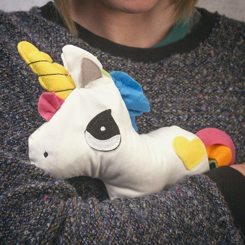 Heated Huggable Unicorn From Firebox Com