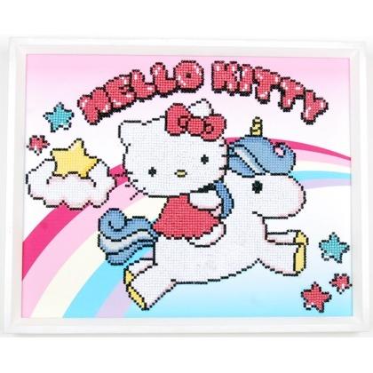 Hello Kitty With Unicorn Diamond Painting Kit