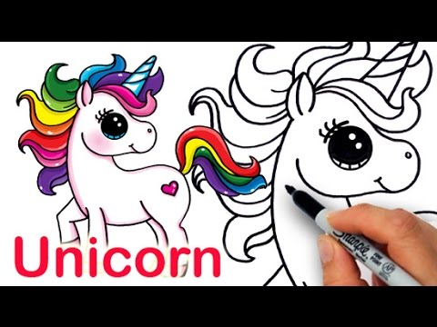 How To Draw A Unicorn Tutorial For Kids – Kids Youtube