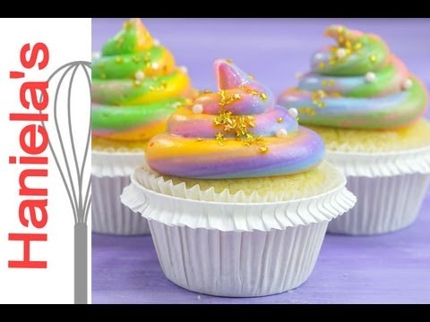 How To Make Unicorn Poop Cupcakes, Rainbow Frosting