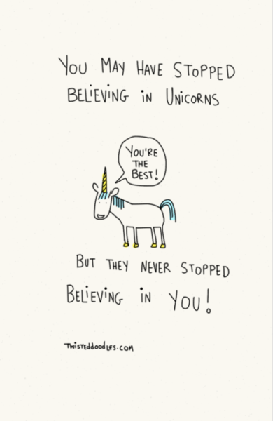 Illustration Cute Unicorn Aww Motivating Quotes Twisteddoodles •
