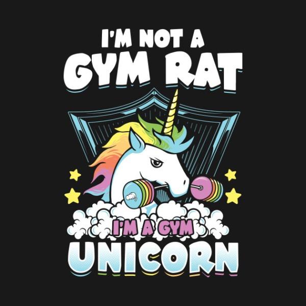 I'm Not A Gym Rat , I'm A Gym Unicorn