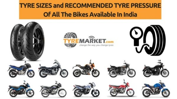 Indian Bike Tyre Sizes And Their Recommended Tyre Pressure