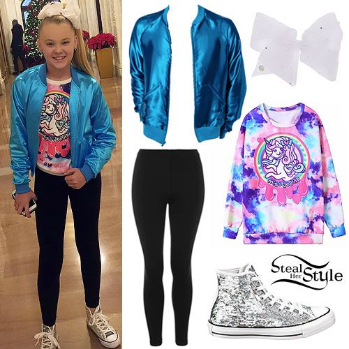 Jojo Siwa  Shiny Bomber, Unicorn Top
