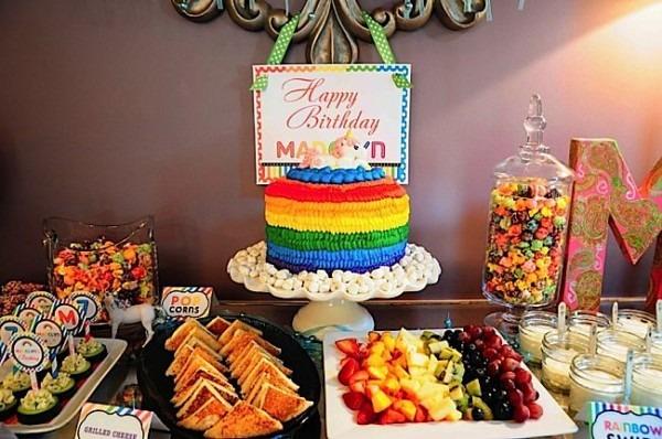 Kara's Party Ideas Rainbow Unicorn 7th Birthday Party