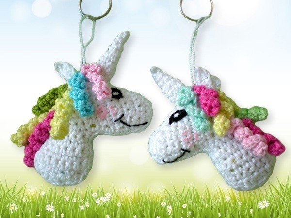 Keychain Unicorn Crochet Pattern