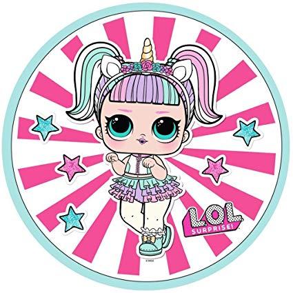 L O L  Surprise ! Fleece Cushion For Girls Lol Dolls Confetti Pop