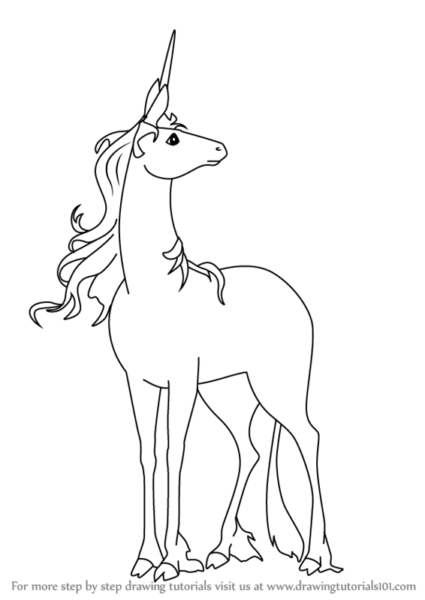Learn How To Draw Unicorn From The Last Unicorn (the Last Unicorn