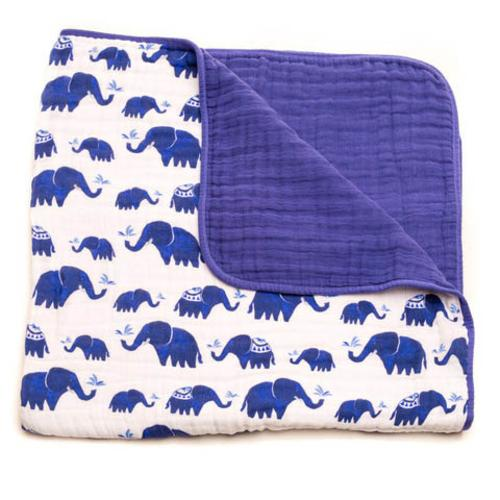 Little Unicorn Cotton Muslin Quilt Indie Elephant Clearance