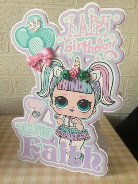 Lol Surprise Doll Birthday Card, Lol Surprise Doll Card, Lol