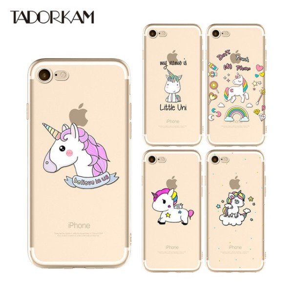 Lovely Unicorn Phone Cases For Iphone 6 6s 7 8 Plus X Clear Soft
