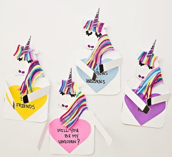 Make A Unicorn Love Card With Free Printable