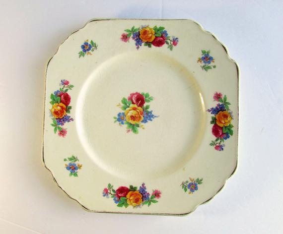 Mary Stuart Plate Wedgwood & Co England Unicorn Pottery