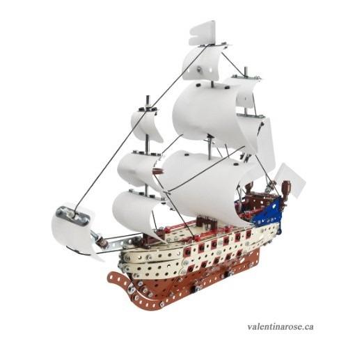 Meccano Tin Tin Unicorn Ship Model Toy