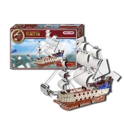 Meccano Tin Tin Unicorn Ship Model Toy  Amazon Co Uk  Toys & Games